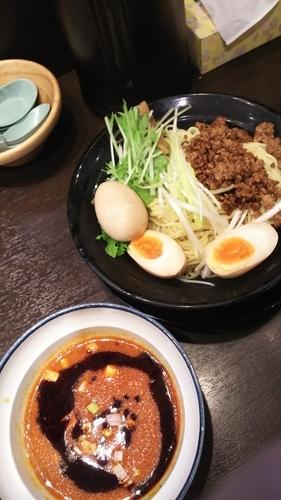 「冷やし坦々つけ麺(大辛)+クーポン味玉 850円」@横浜家系ラーメン 太田商店の写真