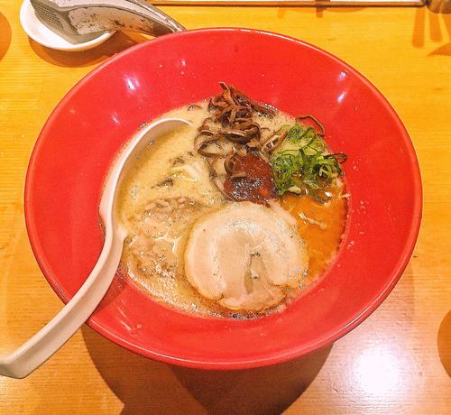 「赤丸新味(麺バリカタ) 850円」@博多一風堂 新宿アイランドタワー店の写真