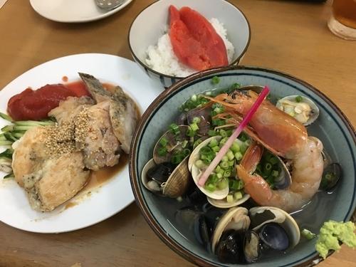 「初夏の一杯 冷し貝汁潮仕立てB」@MENYA 食い味の道有楽の写真
