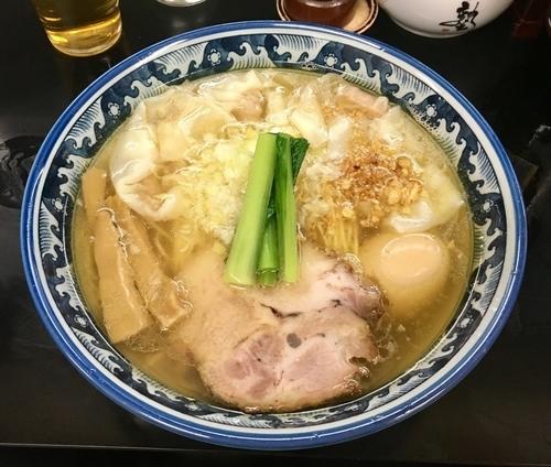 「塩ワンタンメン 1030円」@麺処 ら塾の写真