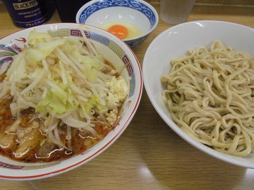 「小豚つけ麺+生卵」@ラーメン二郎 栃木街道店の写真