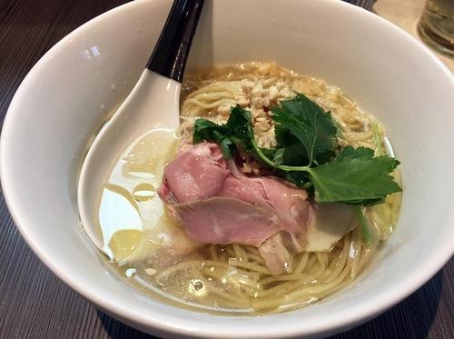「冷やし鶏鮭そば(850円)」@柳麺 呉田-goden-の写真