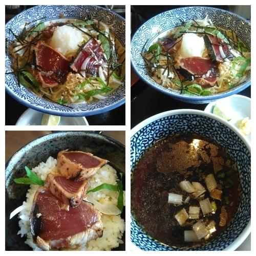 「【限定】2周年つけ麺+カツオのたたき丼」@麺処 いぐさの写真