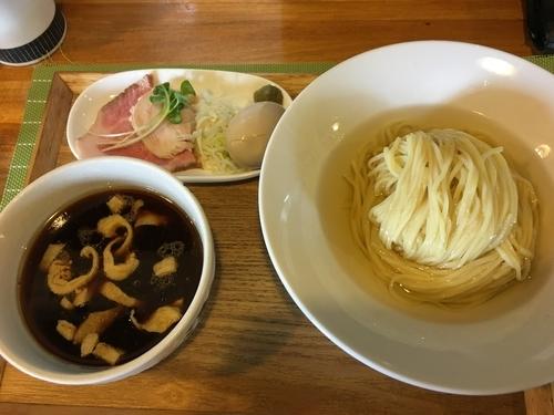 「限定 奥久慈しゃもと鴨のつけ蕎麦」@中華蕎麦 はざまの写真