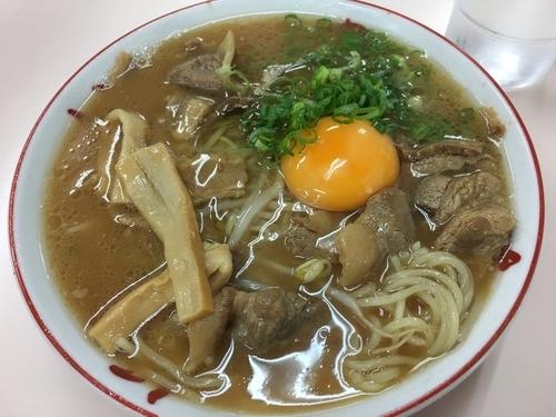 「肉多め麺普通+生玉子」@中華そば いのたに 本店の写真
