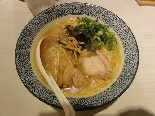 「京鰹節鶏白湯そば」@濃厚京鶏白湯 めんや美鶴の写真