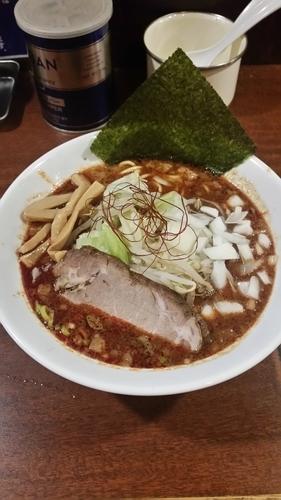「期間限定 辛味噌ラーメン750円」@伝家の写真