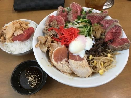 「真夏の一杯 肉しゃぶ冷中C+セットご飯」@MENYA 食い味の道有楽の写真