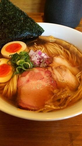 「味玉煮干しそば(大盛り) 海苔 九条ネギ」@麺処 いち林の写真