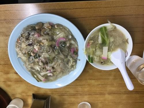 「皿うどんセット 970円」@長崎飯店 虎ノ門店の写真