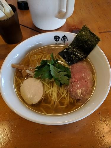 「煮干そば(塩) 750円」@中華そば 田家 本店の写真