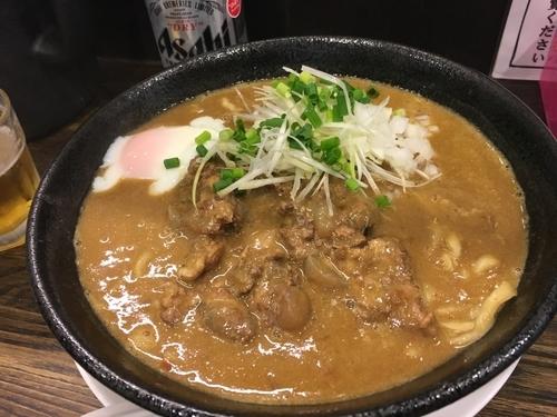 「豚バラ軟骨カレー麺」@あら焼鶏白湯 カシムラの写真