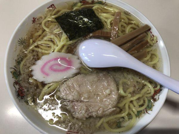 「中華そば(大油)600円」@花岡食堂の写真