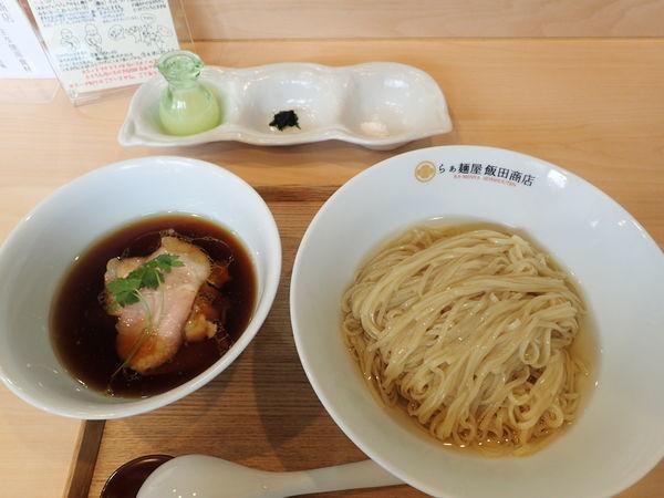 「つけ麺(濃厚昆布鰹出汁かけ) 1000円」@らぁ麺 飯田商店の写真