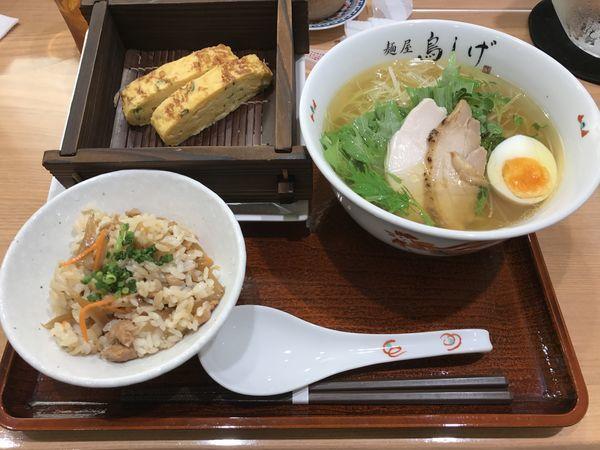 「金 鳥そばBセット」@名古屋コーチン 麺屋 鳥しげ 名古屋PARCO店の写真