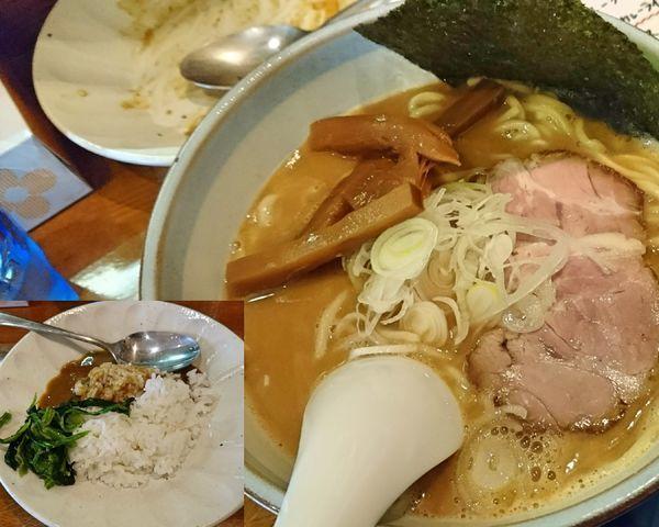 「ミニカレー と 藤原ラーメン」@藤原らーめん店・カレー店の写真
