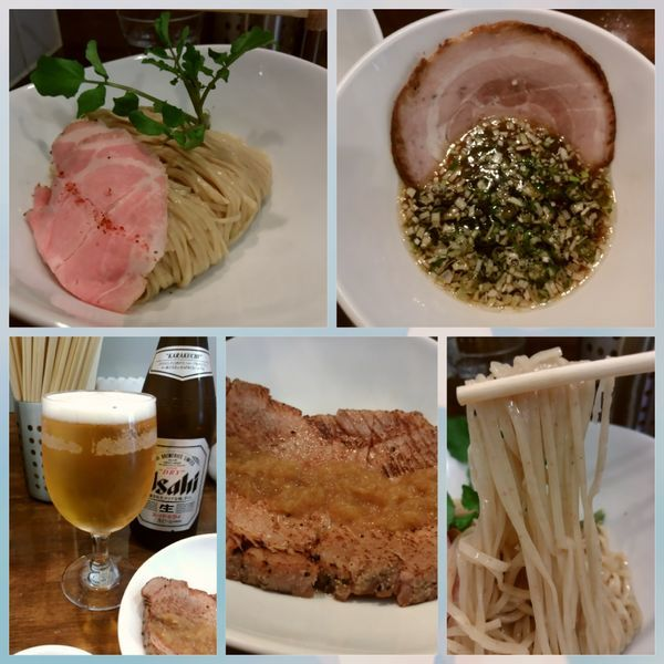 「醤油つけ麺 900円」@創作麺工房 鳴龍の写真