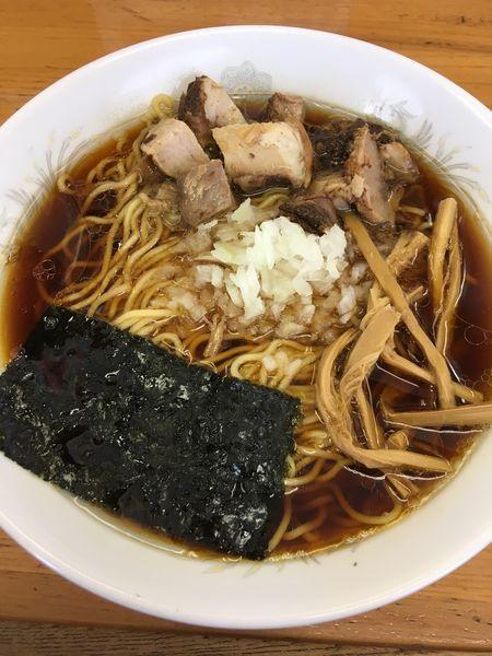 「角切りチャーシュー麺」@醤油らーめん専門店 太尊の写真