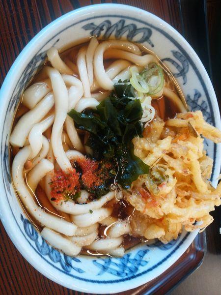 「天ぷらうどん」@農協直営食堂の写真