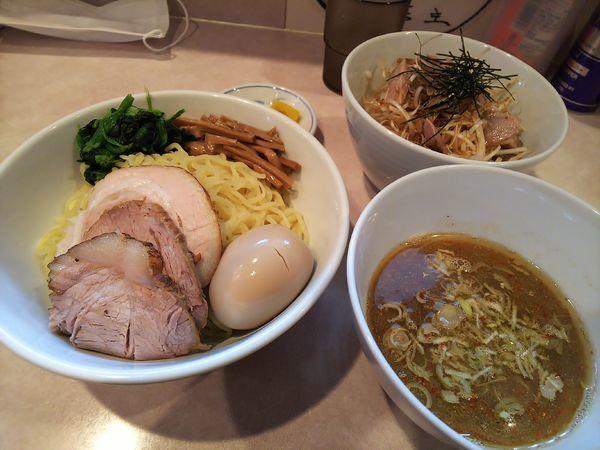 「和だしつけ麺(中)+ねぎチヤーごはん」@らーめん将貴の写真