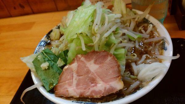 「こってり野菜らーめん830円」@麺創 玄古 新宿御苑店の写真