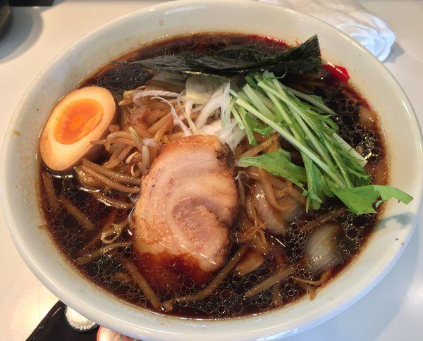 「なまら醤油ラーメン+麺大盛(¥800+ランチサービス)」@麺屋 こてつの写真