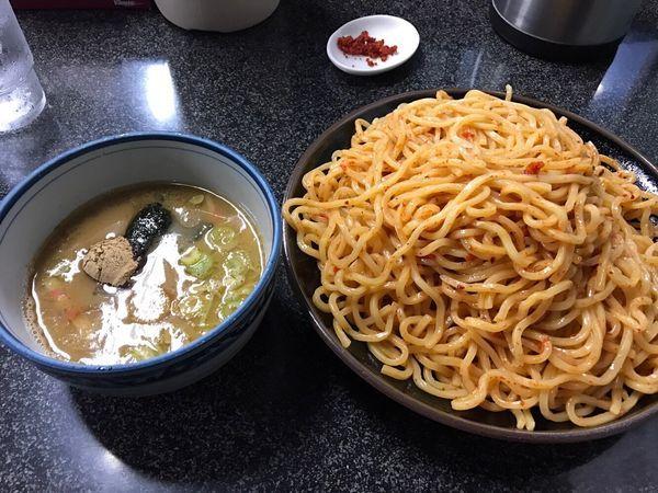 「つけ麺(大盛り×2)」@縁者の写真