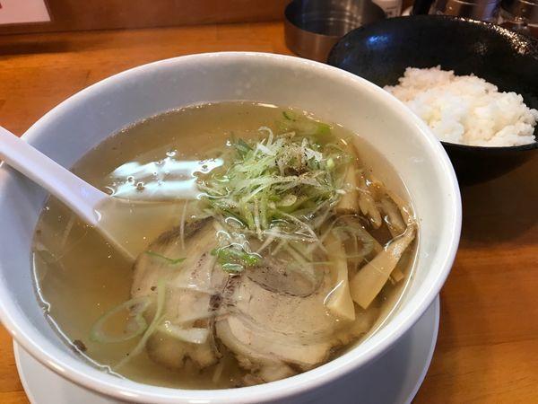 「朝ラー しょっつる 500円」@麺屋 朋の写真