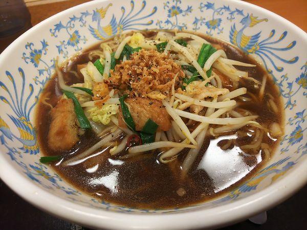 「入野スタミナラーメン(黒醤油)」@こかげ亭 入野パーキングエリア上り店の写真