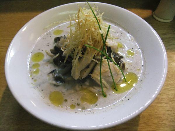 「【限定】きのこのポタージュ麺(900円)」@麺処 あずきの写真
