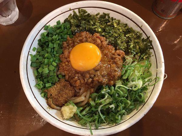 「台湾まぜそば ニンニク有(800円)」@麺屋よしひで 相模大野店の写真
