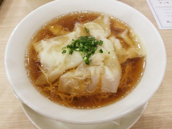 「海老ワンタン麺」@中華麺飯・飲茶 四川乃華 ichi イオンモール松本店の写真