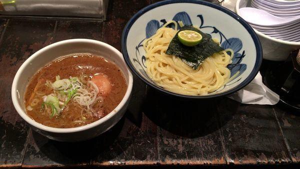「二代目つけ麺+ビール」@めん徳二代目つじ田 麹町店の写真