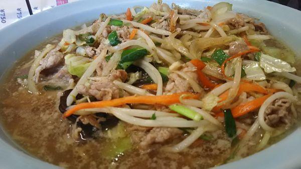 「野菜たっぷりラーメン 中盛り」@ラーメンショップ 片柳店の写真