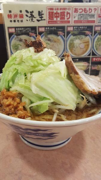 「キャベ富士麺醤油普通盛」@特級豚骨 中華そば湊生の写真