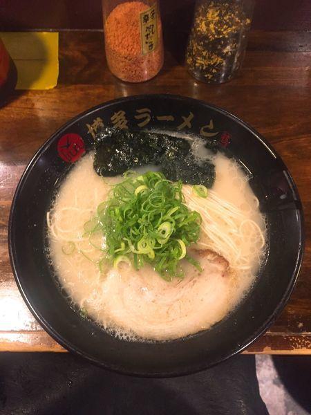「ラーメン餃子セット」@博多ラーメン つるの写真