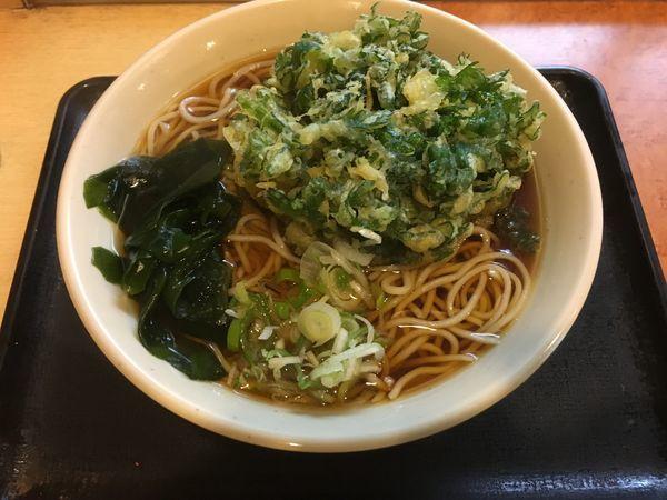 「春菊天そば/¥430」@蕎麦屋 みはちの写真