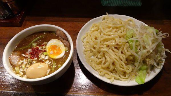 「チャーシューつけそば(1,080円)+味付たまご(100円)」@麺 池谷精肉店の写真