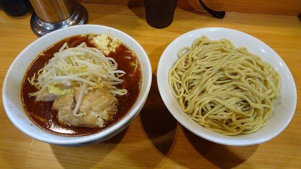「エビな奴つけ麺(1,130円)ニンニク」@ラーメン二郎 八王子野猿街道店2の写真