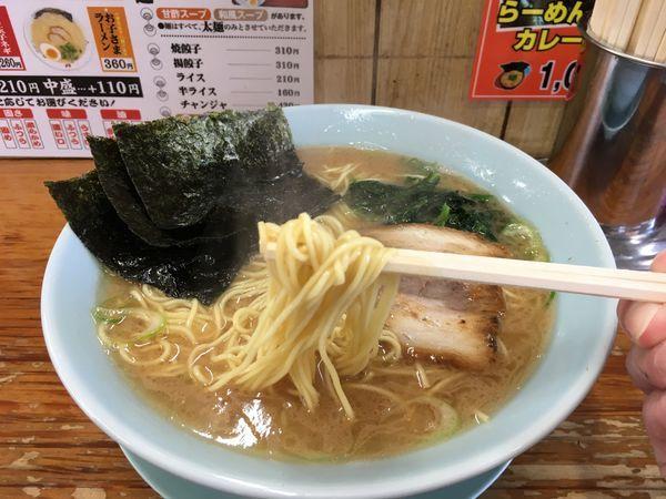 「ラーメン 細カタ麺 大盛り」@栃木家の写真