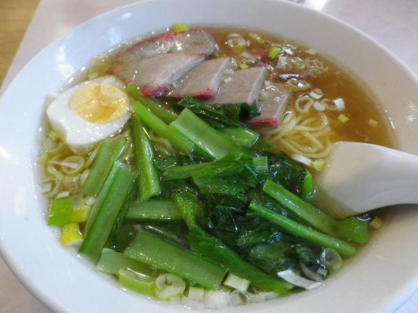 「叉焼湯麺+煎餃子」@南昌飯店の写真