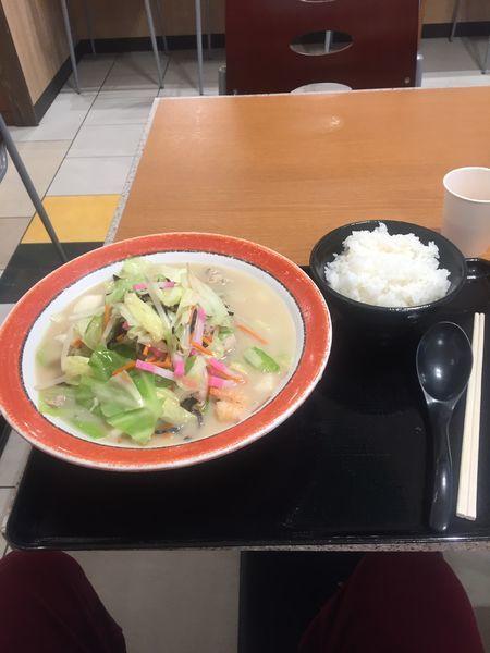 「美東チャンポン+ライス」@美東ちゃんぽん亭の写真