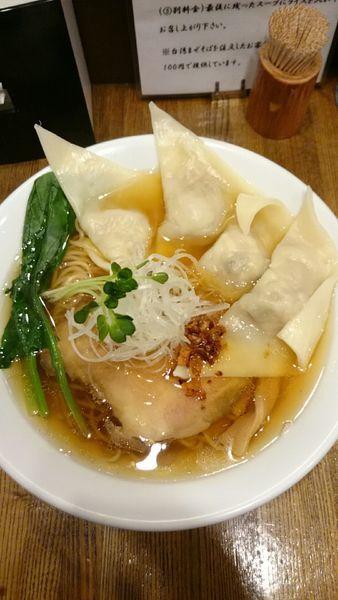 「肉ワンタン煮干そば  900円」@麺処 鶴舞屋の写真