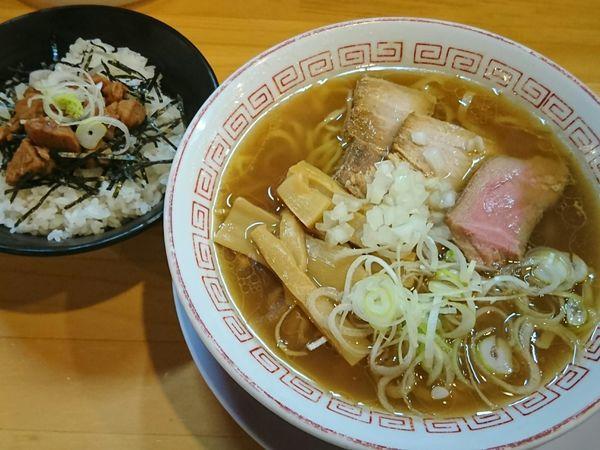 「ミニご飯ランチ(醤油らーめん+マグロのしぐれ煮)¥750」@喜多方食堂 麺や玄 十条店の写真