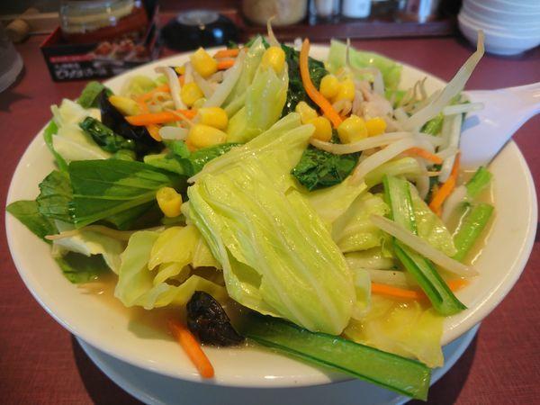 「青菜たっぷり野菜ちゃんぽん 896円」@丸源ラーメン 東久留米店の写真