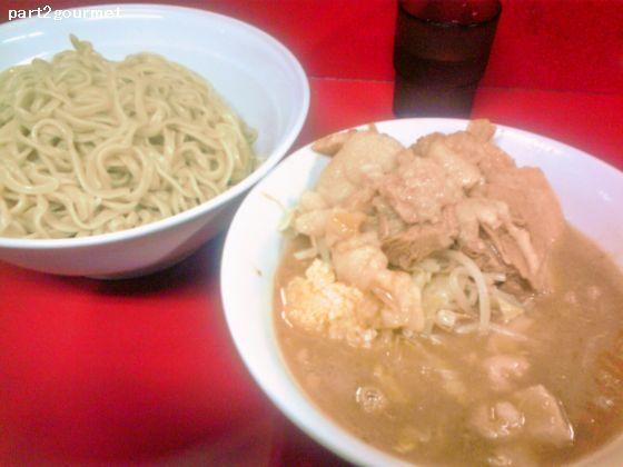 「ニンニクつけ麺(小ラーメン+100円) (800円)」@ラーメン二郎 茨城守谷店の写真