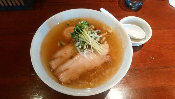 「お魚あっさりらーめん(味玉入り)」@麺 匠仁坊の写真