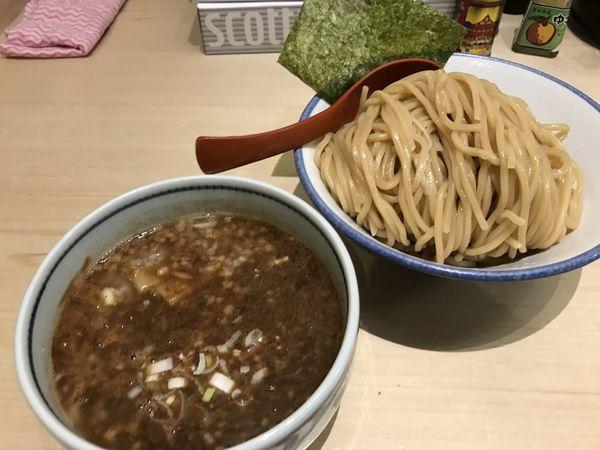 「濃厚魚介つけ麺 味脂増」@麺屋 狢〜むじな〜の写真