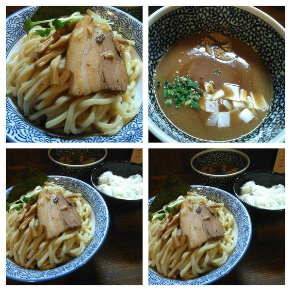 「つけ麺大盛り+半ライス」@麺処 いぐさの写真