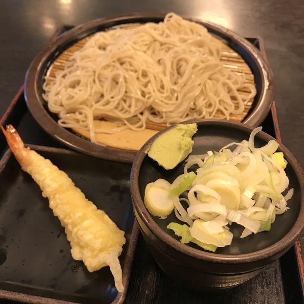 「もり(¥320)+海老天(クーポン)」@ゆで太郎 久が原店の写真